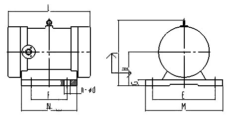 JZO振动电机安装尺寸